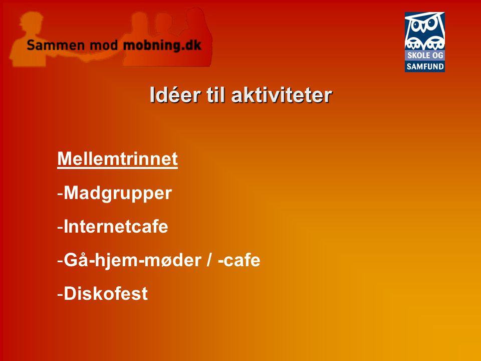 Idéer til aktiviteter Mellemtrinnet Madgrupper Internetcafe