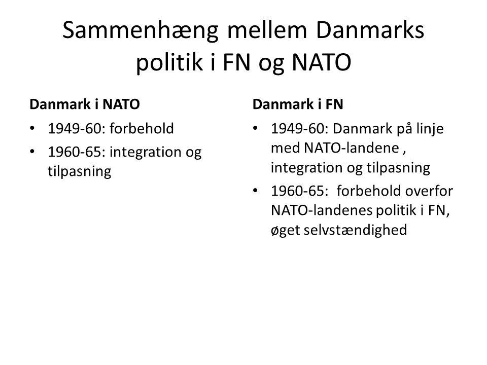 Sammenhæng mellem Danmarks politik i FN og NATO