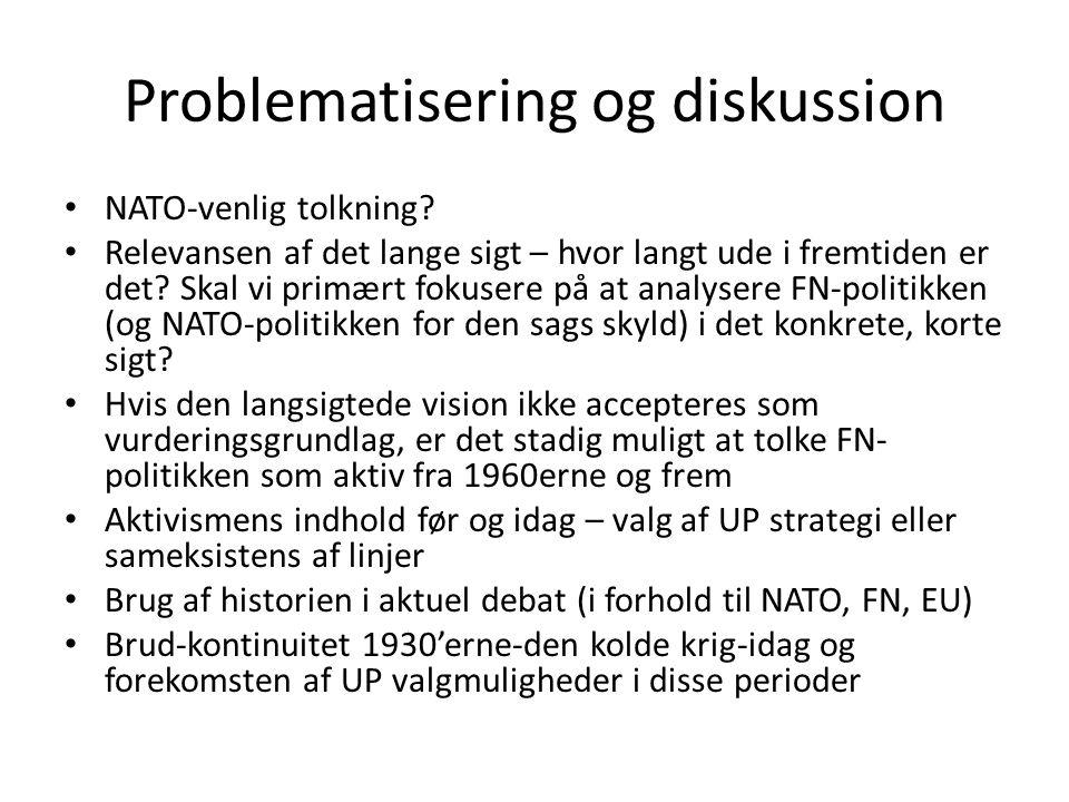 Problematisering og diskussion