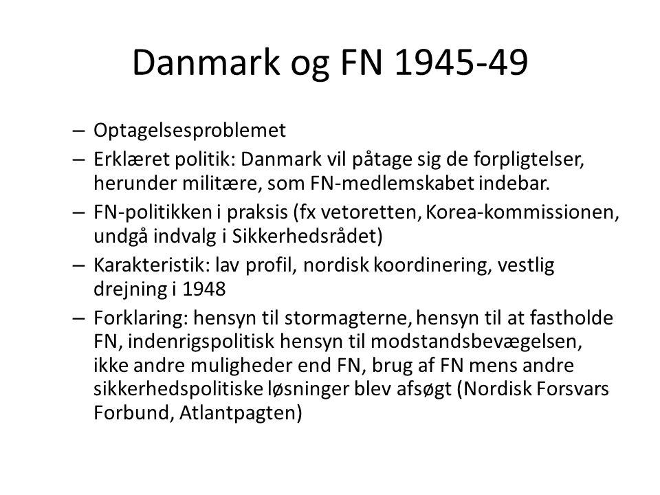 Danmark og FN 1945-49 Optagelsesproblemet