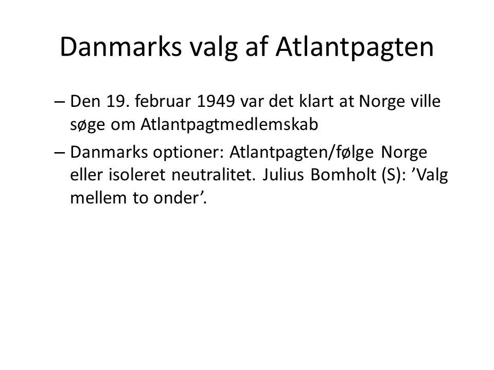 Danmarks valg af Atlantpagten
