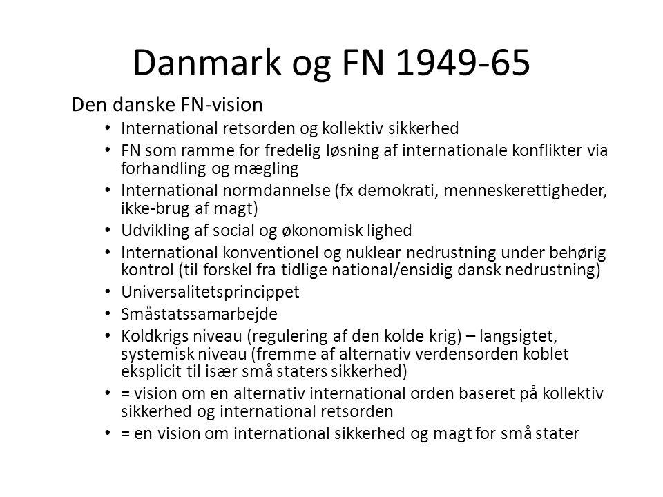 Danmark og FN 1949-65 Den danske FN-vision