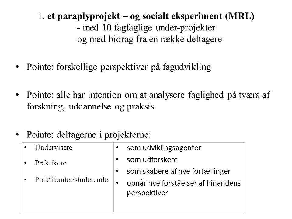 Pointe: forskellige perspektiver på fagudvikling