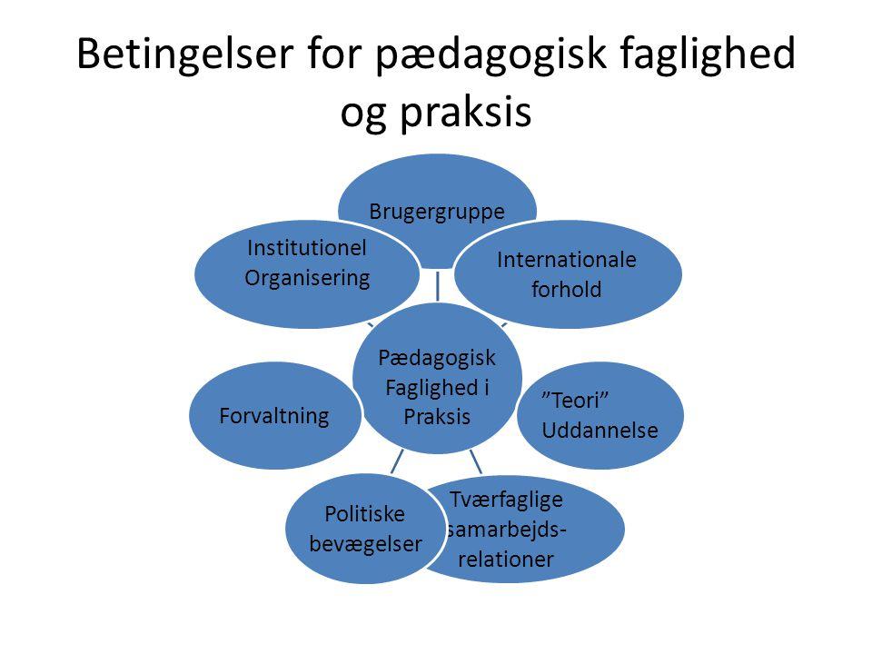 Betingelser for pædagogisk faglighed og praksis