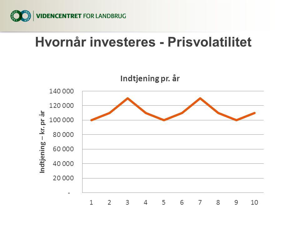 Hvornår investeres - Prisvolatilitet