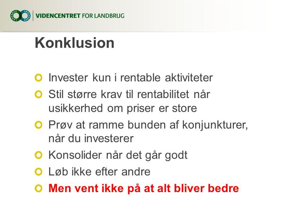 Konklusion Invester kun i rentable aktiviteter