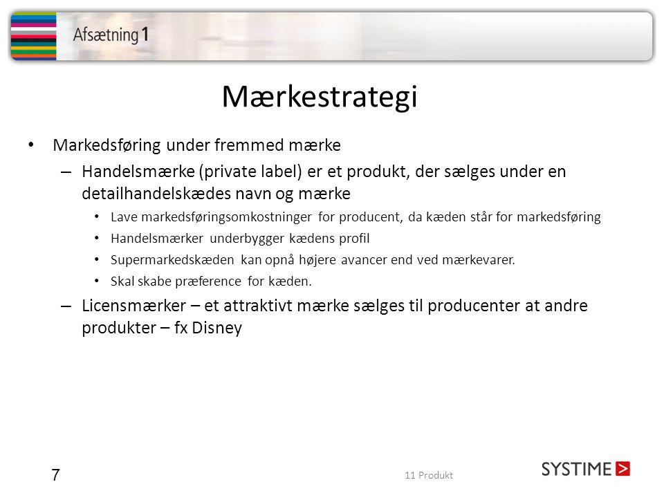 Mærkestrategi Markedsføring under fremmed mærke