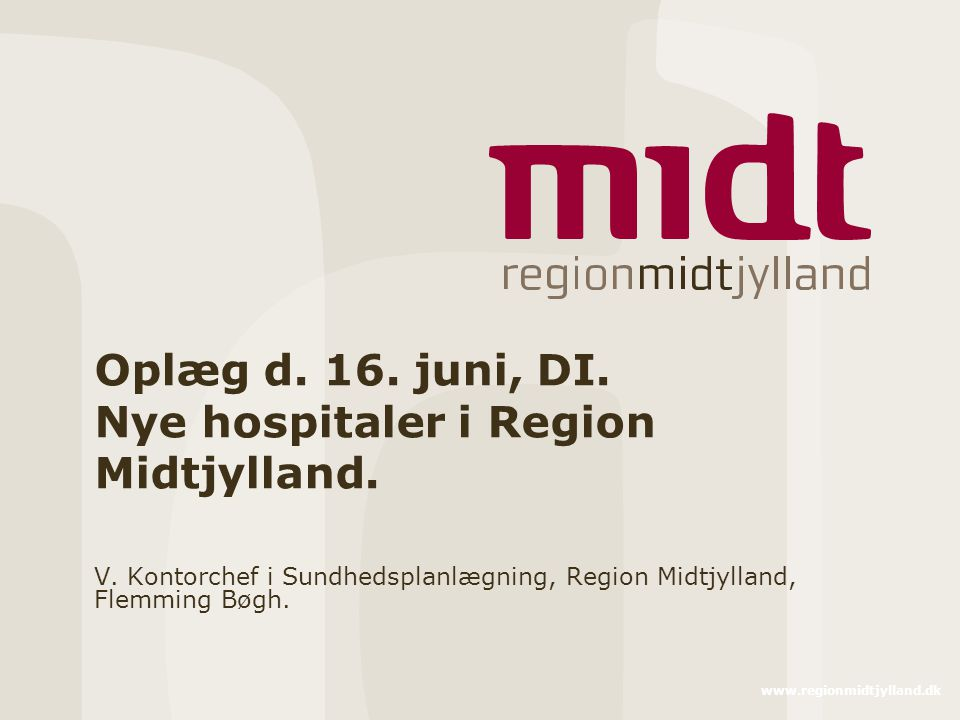 hospitaler i region midtjylland