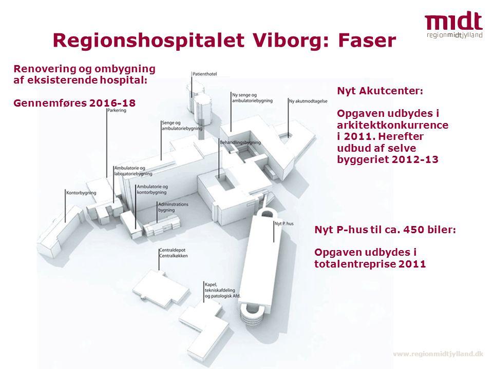 Regionshospitalet Viborg: Faser