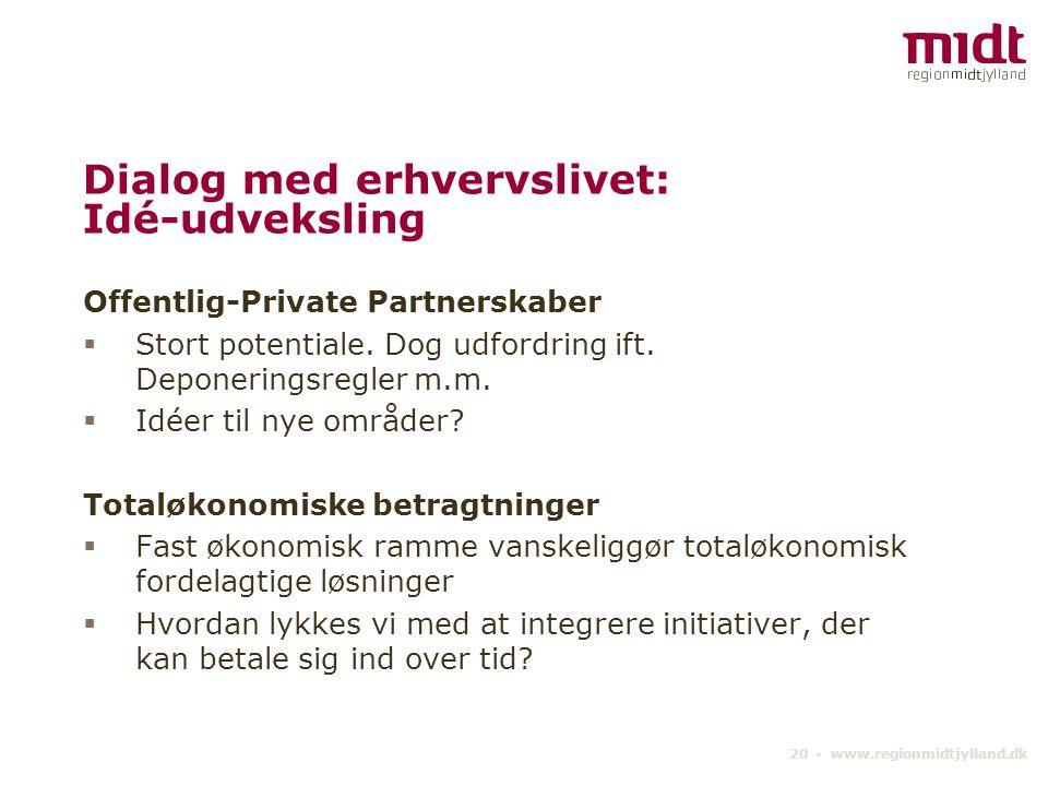 Dialog med erhvervslivet: Idé-udveksling