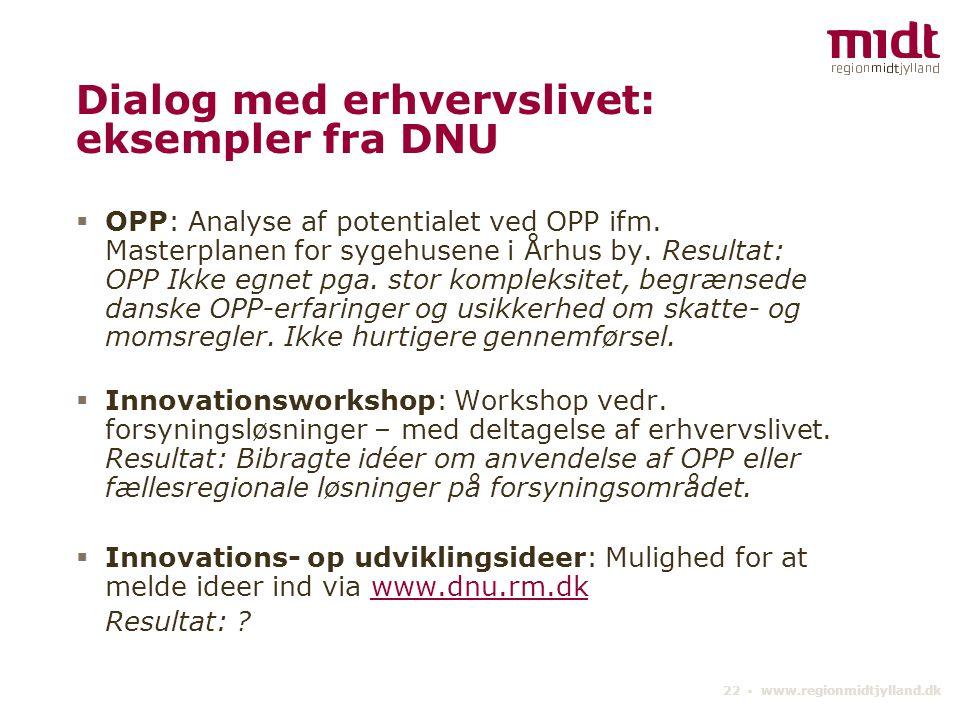 Dialog med erhvervslivet: eksempler fra DNU