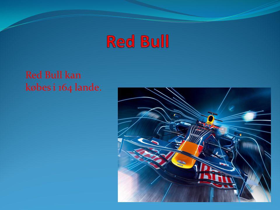 Red Bull kan købes i 164 lande.