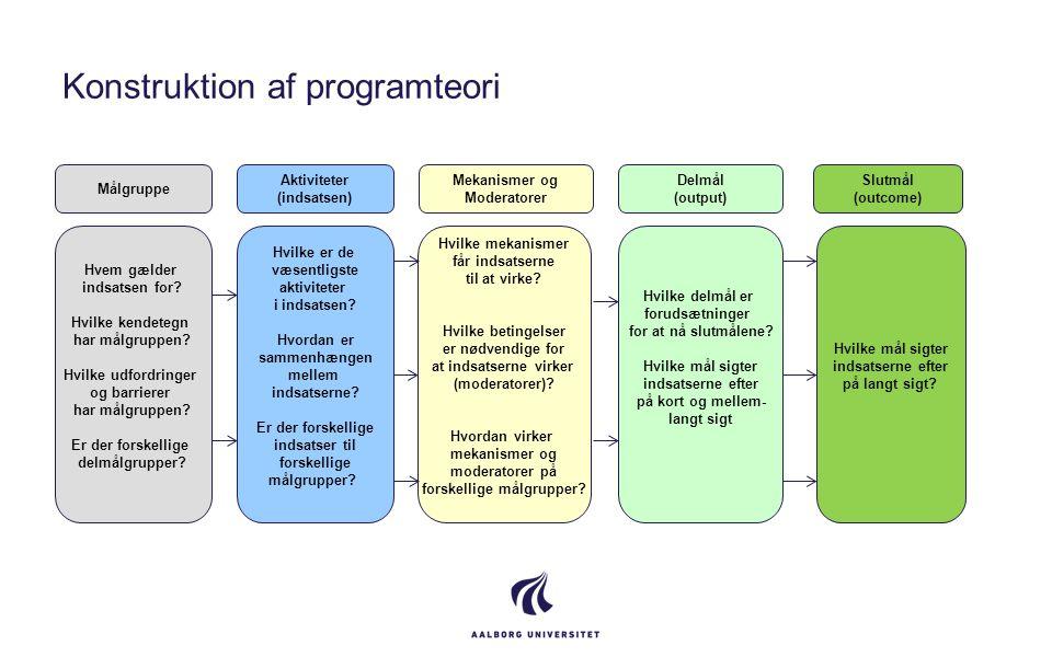 Konstruktion af programteori