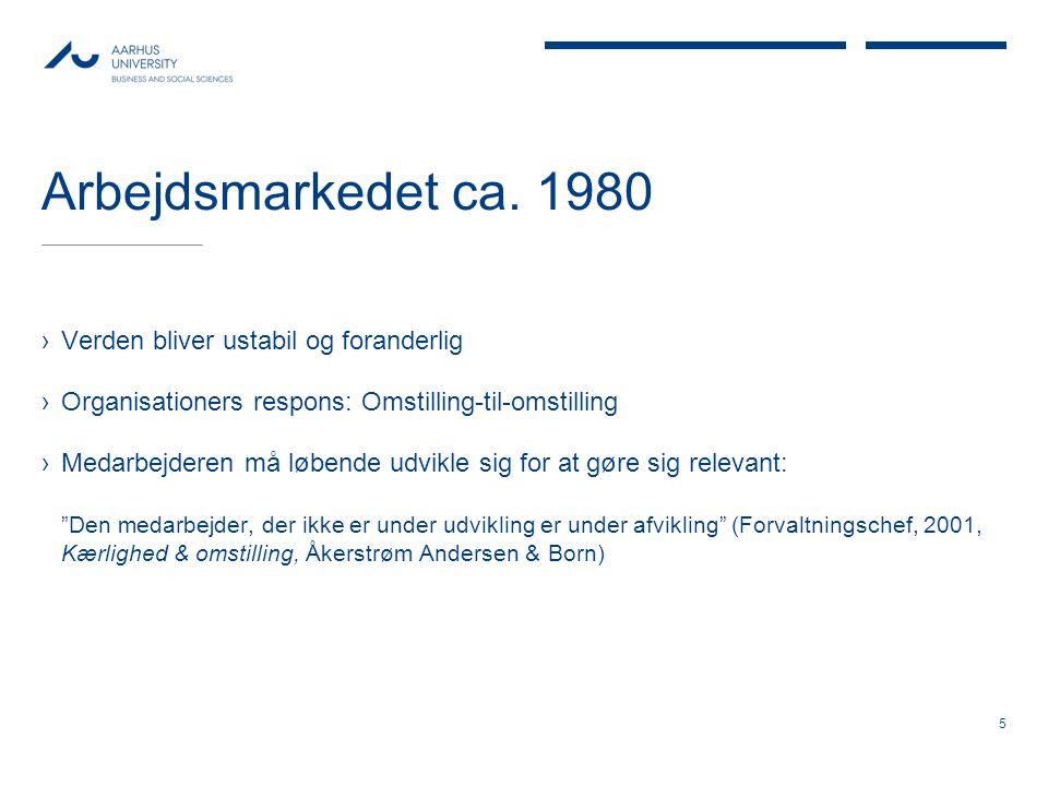 Arbejdsmarkedet ca. 1980 Verden bliver ustabil og foranderlig