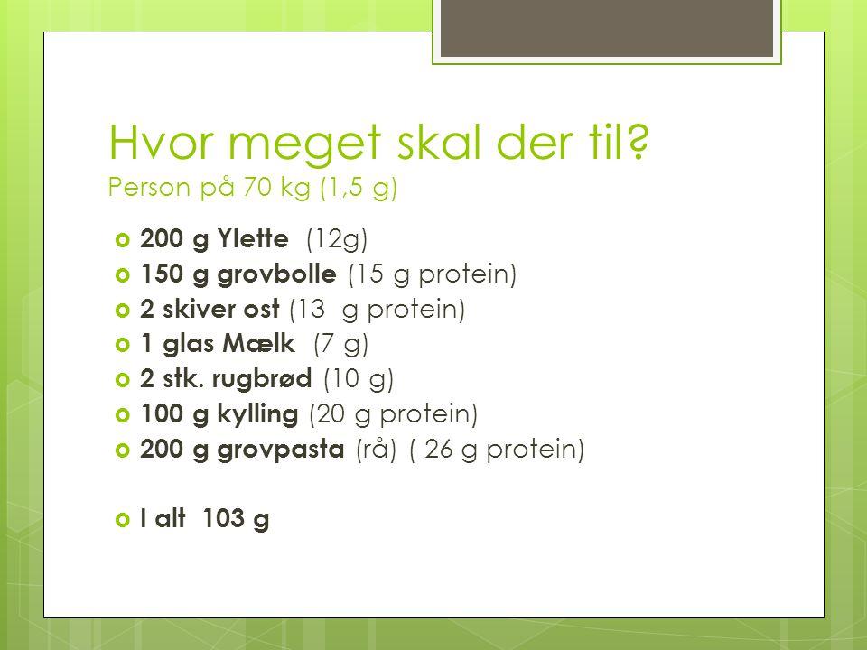 Hvor meget skal der til Person på 70 kg (1,5 g)