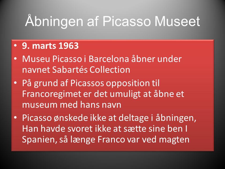 Åbningen af Picasso Museet