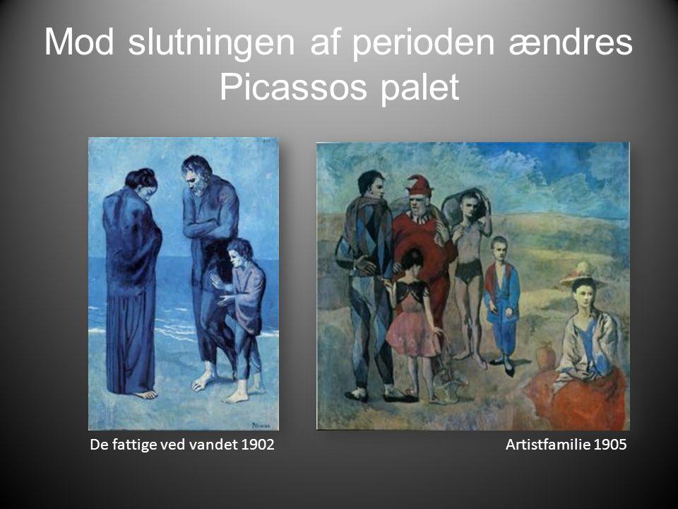 Mod slutningen af perioden ændres Picassos palet