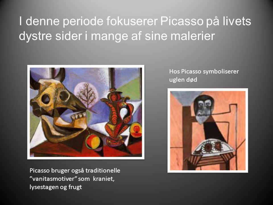 I denne periode fokuserer Picasso på livets dystre sider i mange af sine malerier