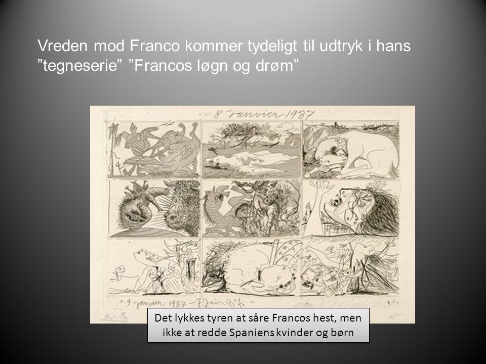 Vreden mod Franco kommer tydeligt til udtryk i hans tegneserie Francos løgn og drøm