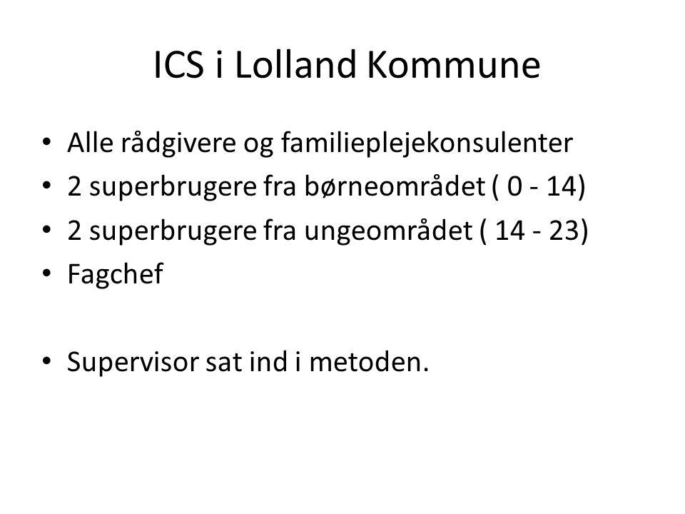 ICS i Lolland Kommune Alle rådgivere og familieplejekonsulenter