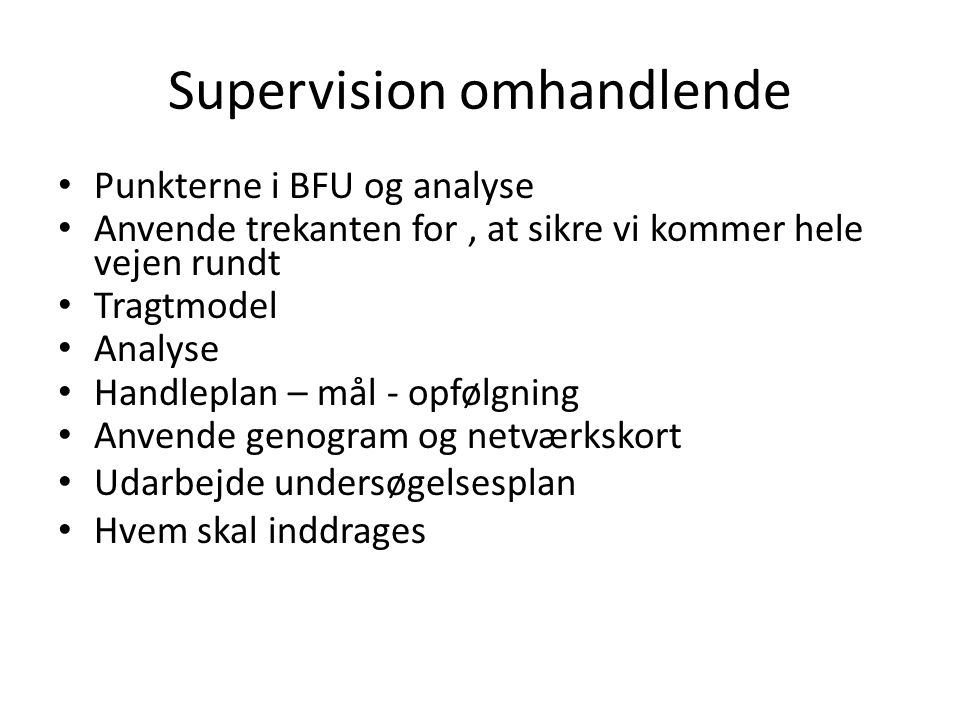 Supervision omhandlende