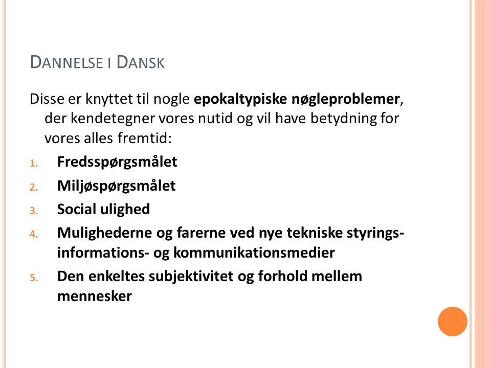 Dannelse i Dansk