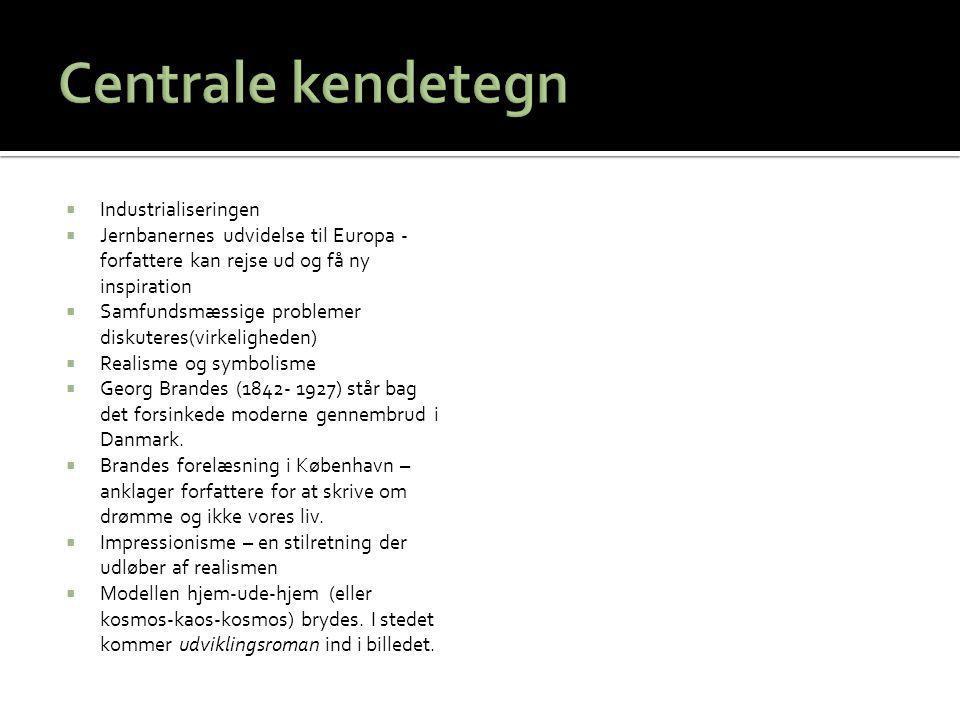 Centrale kendetegn Industrialiseringen