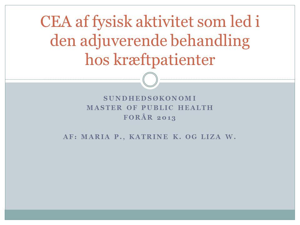 Master of public Health Af: Maria P., Katrine K. og Liza W.