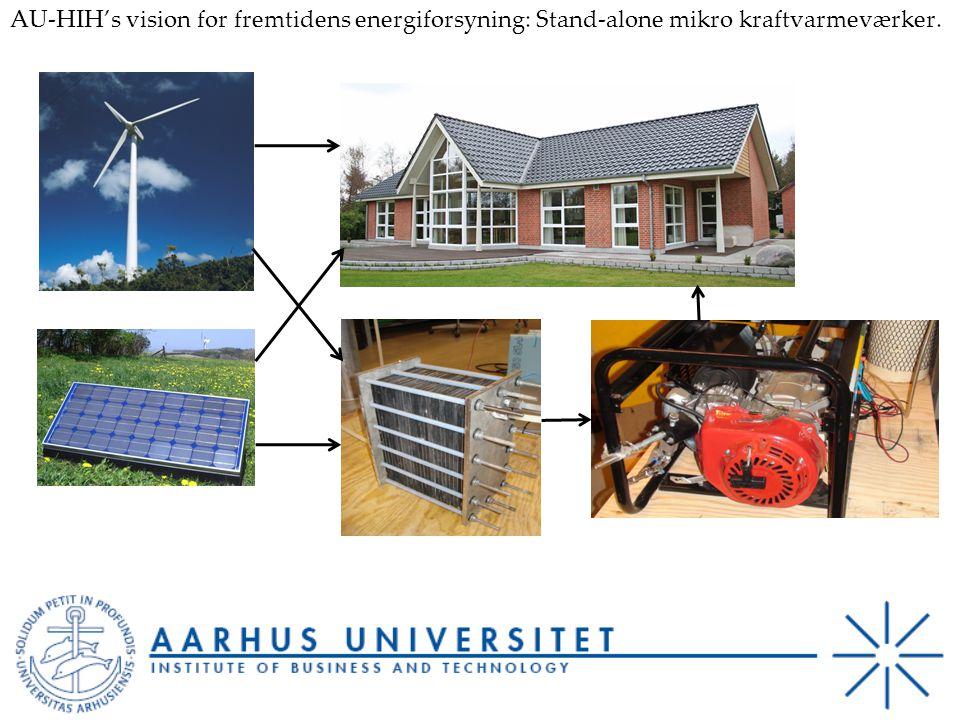 AU-HIH's vision for fremtidens energiforsyning: Stand-alone mikro kraftvarmeværker.