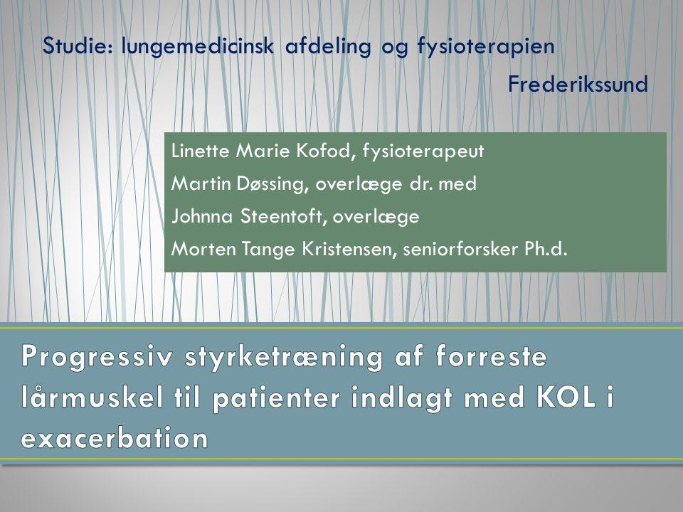 Studie: lungemedicinsk afdeling og fysioterapien