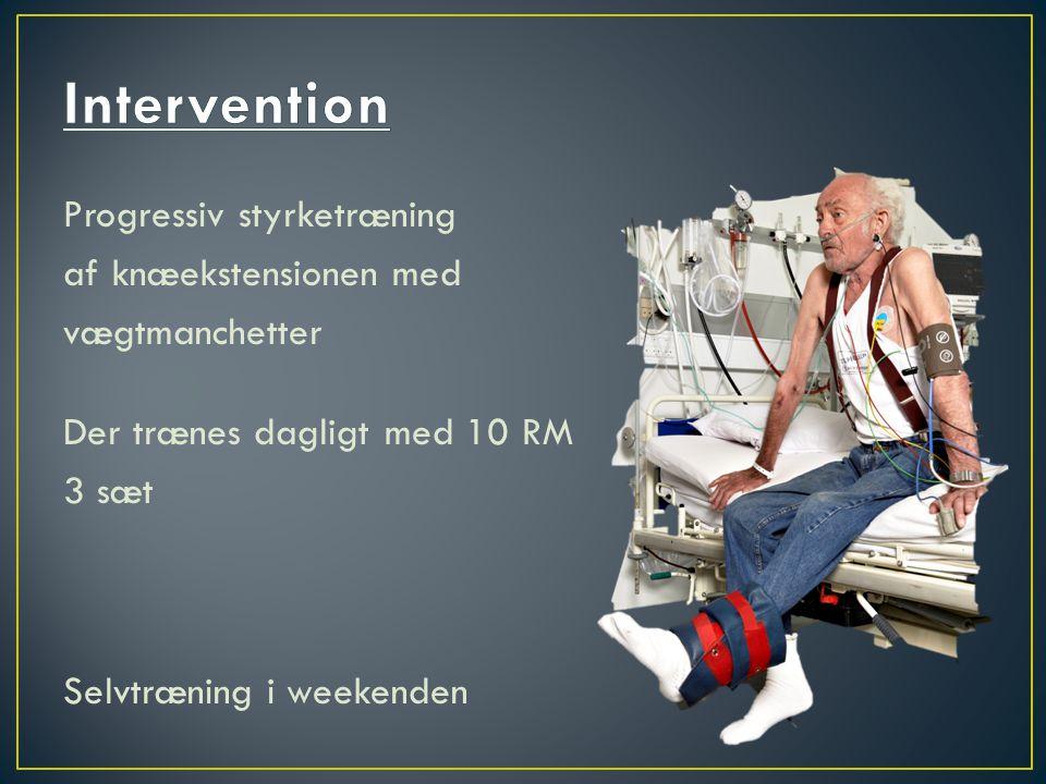 Intervention Progressiv styrketræning af knæekstensionen med
