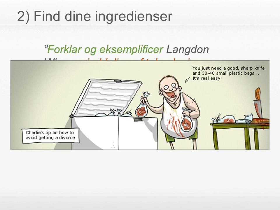 2) Find dine ingredienser