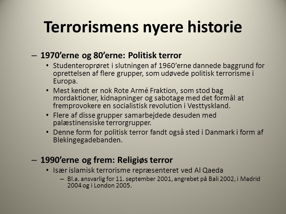 Dagens program: Global terrorisme og medier - ppt download