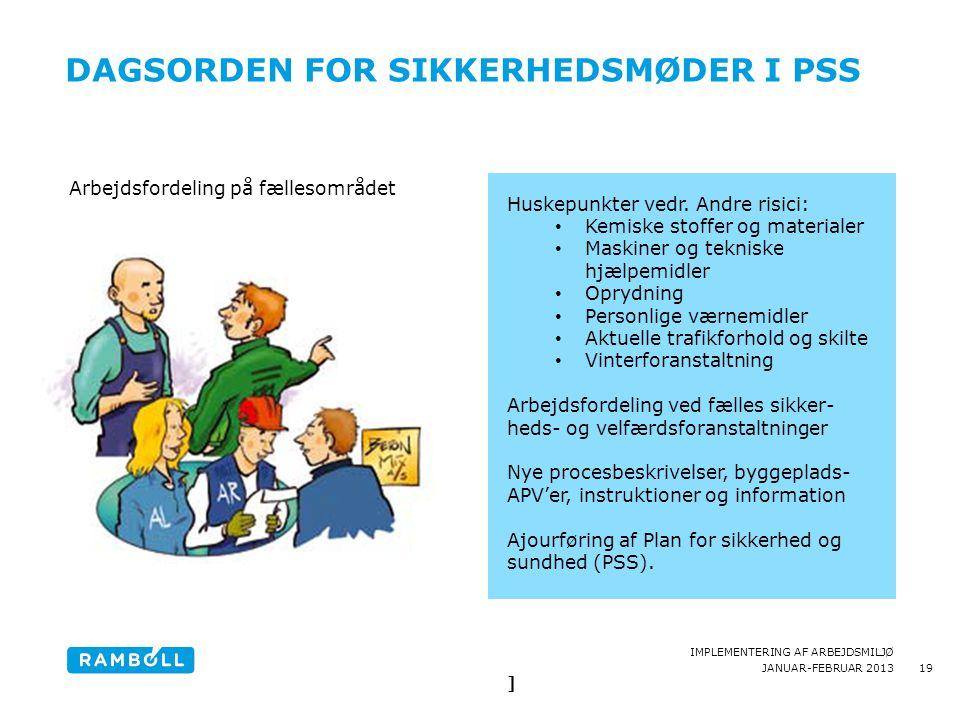dagsorden for sikkerhedsmøder i PSS