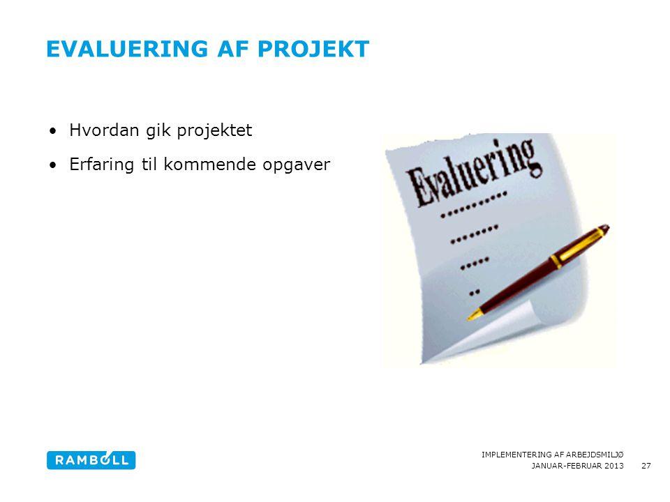 Evaluering af Projekt Hvordan gik projektet