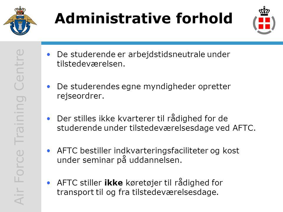 Administrative forhold