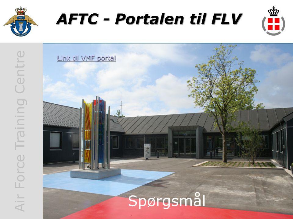 AFTC - Portalen til FLV Link til VMF portal Spørgsmål Spørgsmål