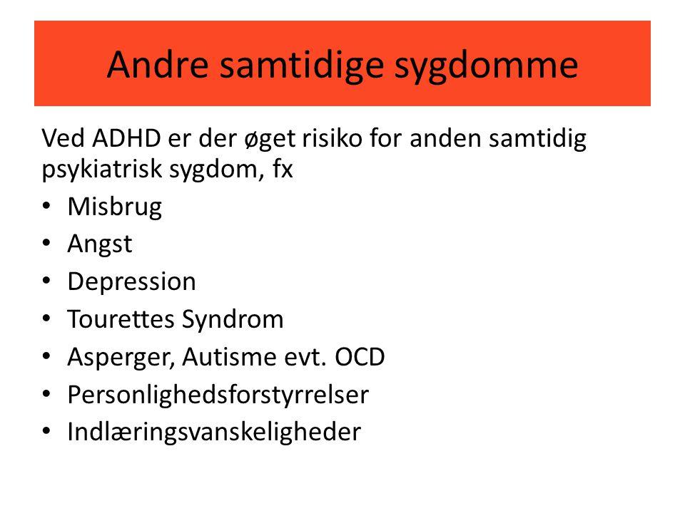 Andre samtidige sygdomme