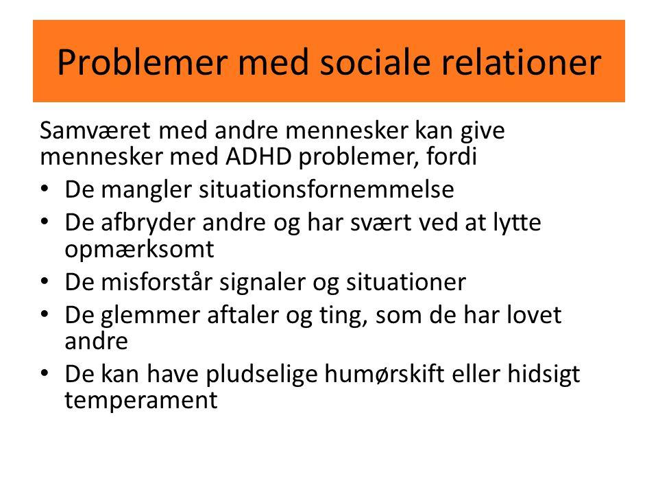 Problemer med sociale relationer