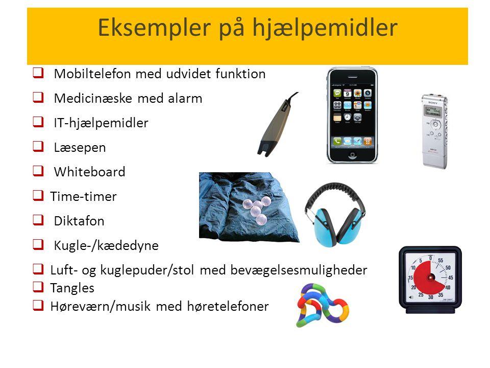 Eksempler på hjælpemidler