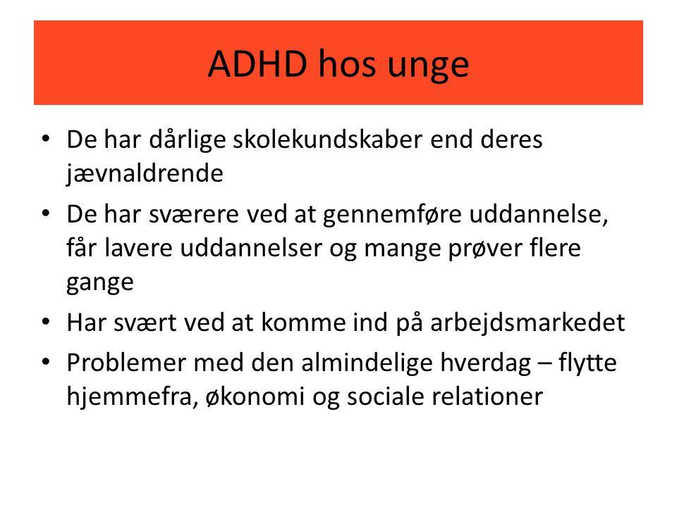 ADHD hos unge De har dårlige skolekundskaber end deres jævnaldrende