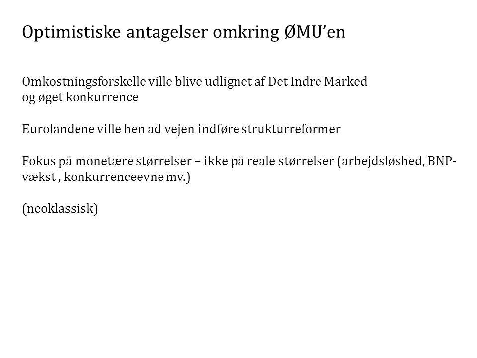 Optimistiske antagelser omkring ØMU'en