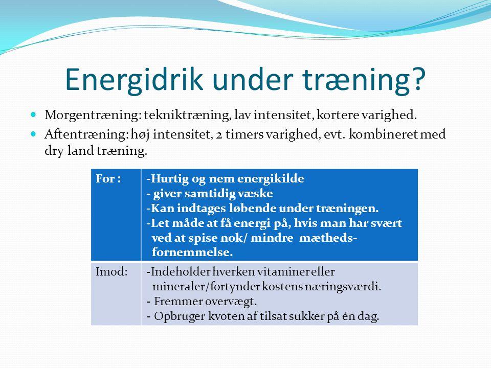 Energidrik under træning