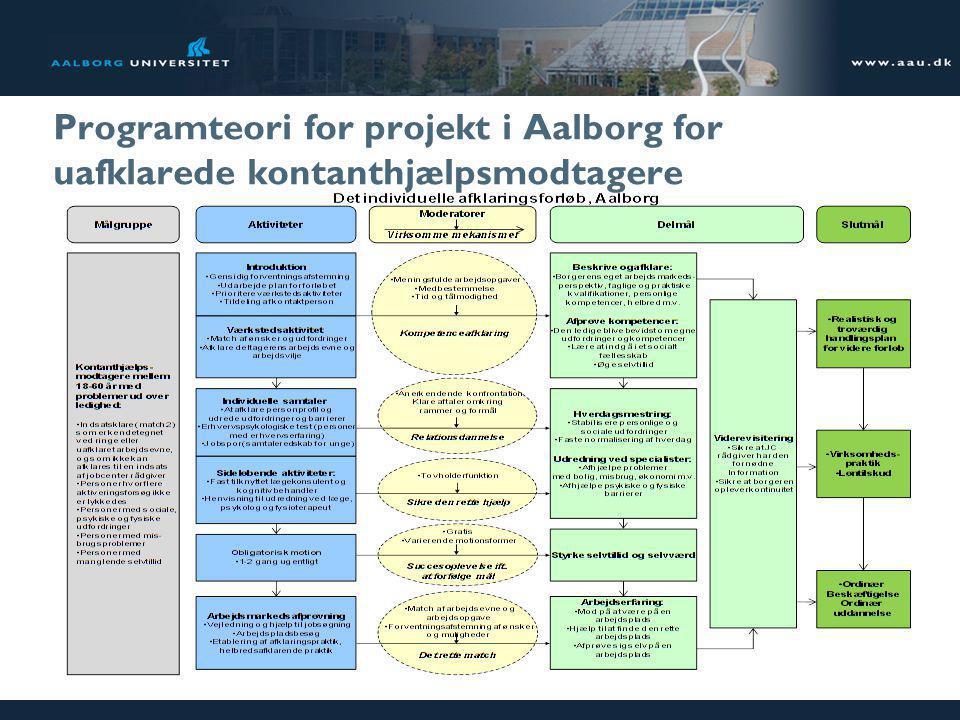 Programteori for projekt i Aalborg for uafklarede kontanthjælpsmodtagere