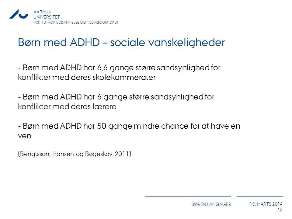 Børn med ADHD – sociale vanskeligheder