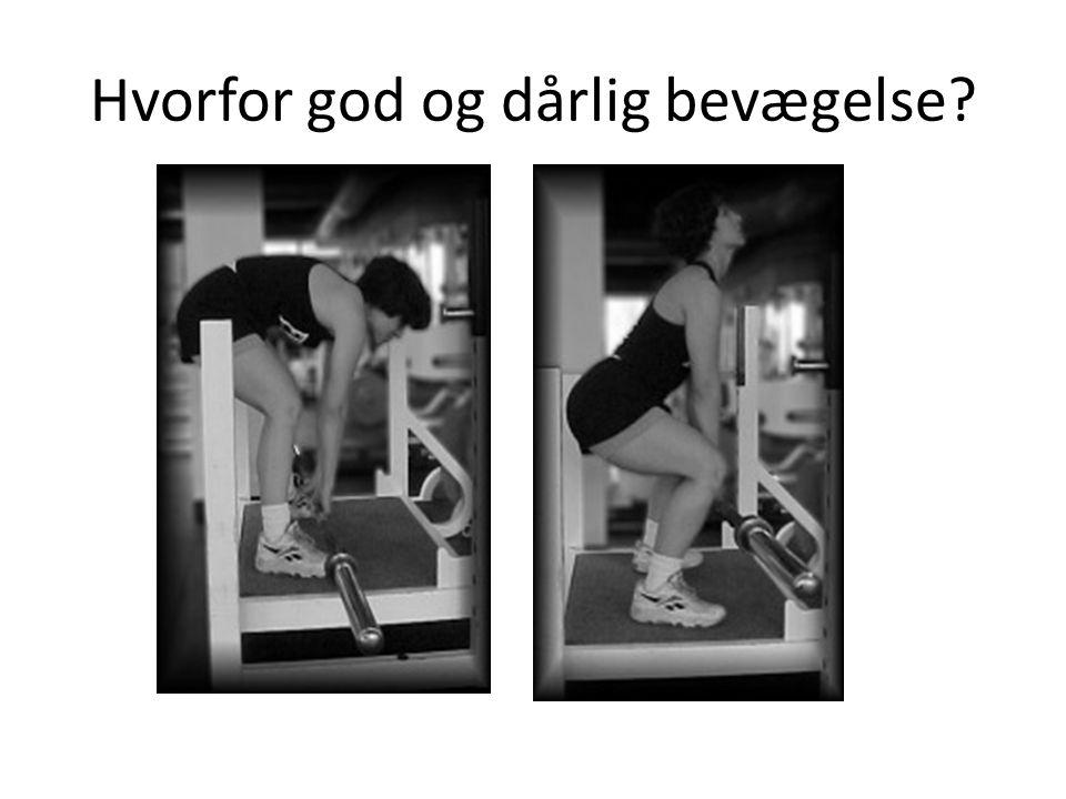 Hvorfor god og dårlig bevægelse