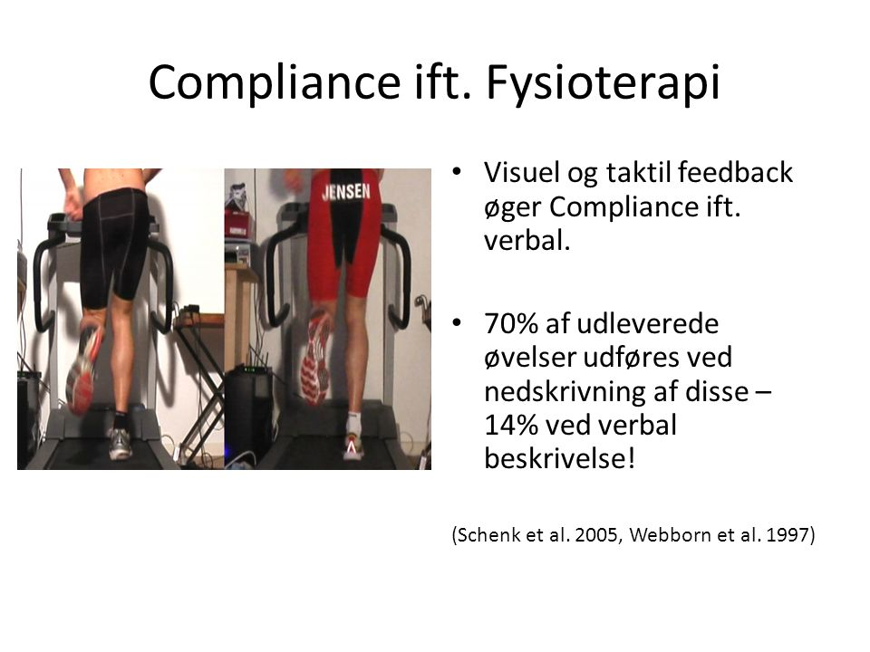 Compliance ift. Fysioterapi