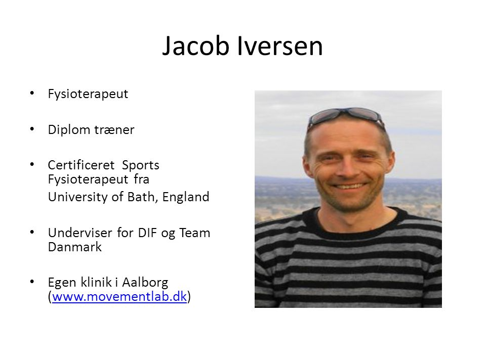Jacob Iversen Fysioterapeut Diplom træner