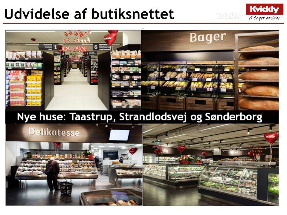 Udvidelse af butiksnettet