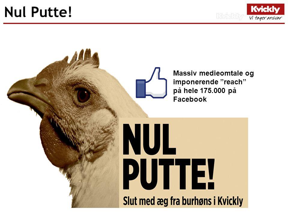Nul Putte! Massiv medieomtale og imponerende reach på hele 175.000 på Facebook